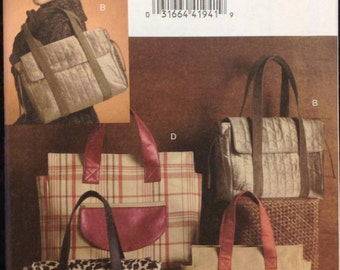Vogue 8439 Purse With Flap // Satchel // Tote Bag Sewing Pattern