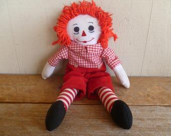 Raggedy Andy Cloth Doll    Vintage