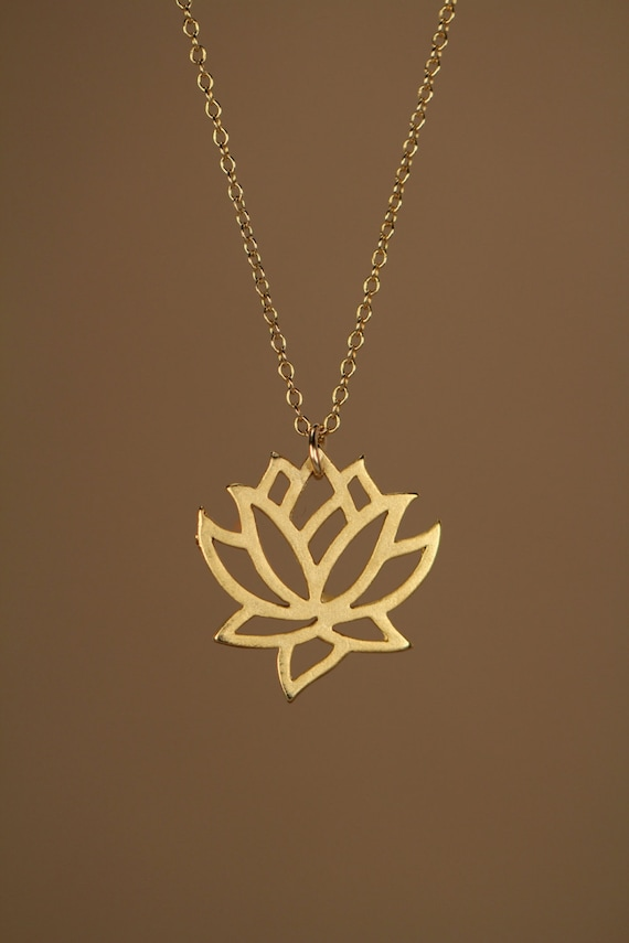 fourth yellow jewelry gold street products pendant edit lotus east