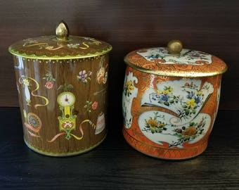 Vintage Daher Tins - Set of 2 - Made in England