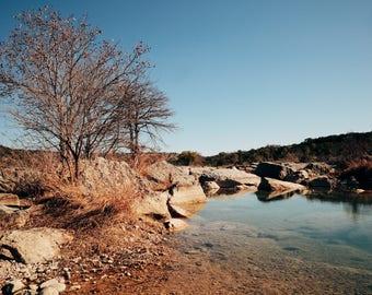 Texas Landscape - Pedernales Falls State Park 8 X 10 Print