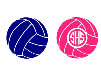 Volleyball instant digital download cut file for cutting machines - SVG DXF EPS ps Studio3 Studio (monogram font sold separately)
