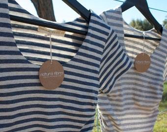Stripe Organic Cotton / Linen Maternity Top- fabric from Japan!!