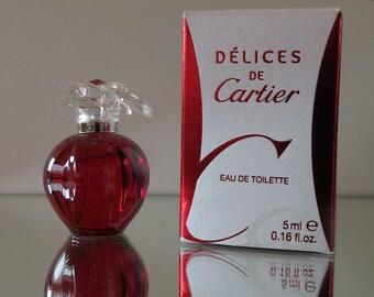 Delices de Cartier by Cartier - FULL - Miniature perfume bottle - Eau de Toilette Parfum-