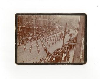 Parade, antique cabinet card photo