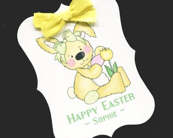 Easter Tags - Personalized Tags - Favor Tags - Cookie Tags - Bag Tags - Easter Candy Tags - Easter Labels - Bunny - 20