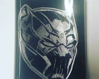 Black Panther - Marvel Comics - The Avengers - Whiskey Flask - Avengers Civil War - Marvel Party - Customized Flask - Collectibles - Flask