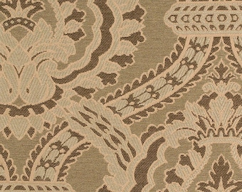 Olive Green Paisley Jacquard Upholstery Fabric