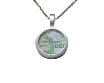 Georgetown Map Pendant Necklace