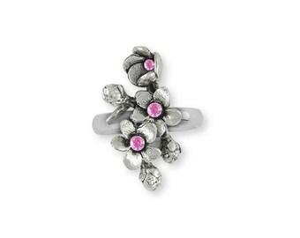 Cherry Blossom Ring Jewelry Sterling Silver Handmade Flower Ring CBL2-SR