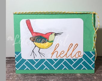 Bird Hello Handmade Card