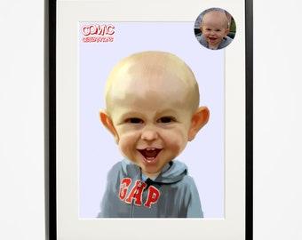 Baby / child / gap / hoodie / caricature /  Portrait / illustration / cartoon / art / funny