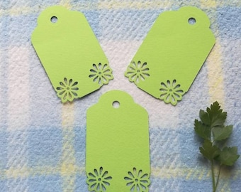 Green favor tags, Green tags, price tags, favor Green tags, wedding tags, party tags, birthday tags, blank tags, cute tags, spring tags, diy
