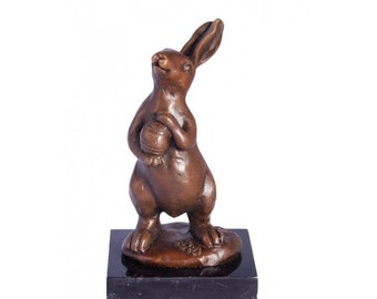 Rabbit with Egg Bonze Statue