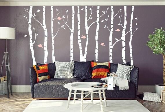 Wandtattoo Baum Große Birke Baum Wandtattoo Baum Und Vögel