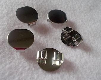 Bolo Tie Slides, Silver Bolo Slides, 5 Pieces, Bolo Tie Findings, Bolo Tie Hardware, Bolo Tie Parts, Silver Bolo Tie Parts, Diy Bolo Tie