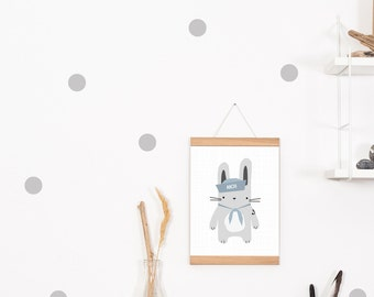Walltattoo/Wall Sticker Dots Dots Grey