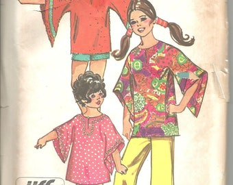 Simplicity 9343 vintage uncut size 10 girls top and pants