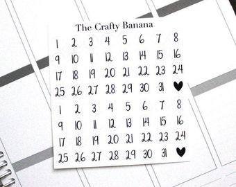 Date Dots Planner Stickers - Date Dots - 1 Sheet