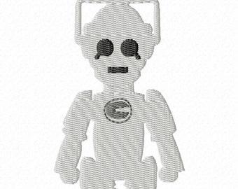 DIGITAL FILE Cyber robot upgraded human beings D-octor Who felt clippies 4x4 5x7 6x10 ITH Machine Embroidery Design download clips felties
