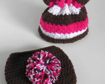 Lil Bunny Foo Foo Hat & Diaper Cover -- Newborn Photography Prop Set -- Custom Made to Order