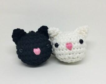 Crochet Cat Amigurumi Keychain -Ready To Ship