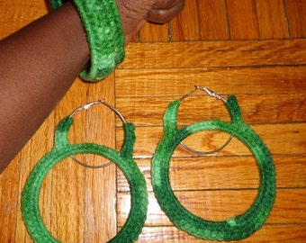 I Want It All, Crochet Earrings and Bracelet Set