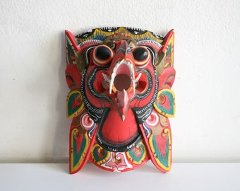 Indonesian Red Garuda Mask
