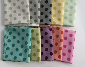 Moda  Circulus from Jen Kingwell, Choose 4 fat quarters, cotton dot modern fabric