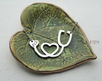 Stethoscope Heart Necklace | Personalized Jewelry | Nursing Necklace | Nurse Jewelry | Doctor Necklace | Nurse Graduation Gift | Medical
