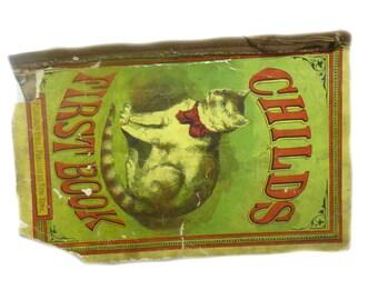 1850's Antique Collectible Children's Book - Childs First Book - McLoughlin Bros - RARE