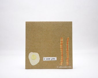 STICKY NOTEPAD: Bacon and Eggs Love - Fun Gift, Humorous, Stocking Stuffer