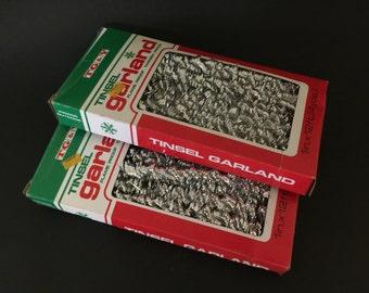Vintage 2 Boxes Tinsel Garland Christmas