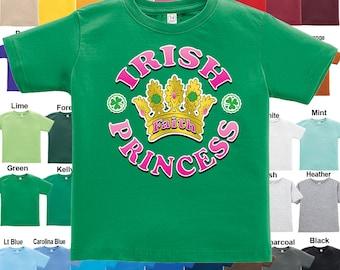 IRISH - Princess T-Shirt -Personalized with Name - Girls / Infant / Toddler / Youth sizes