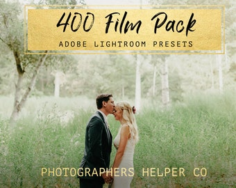 400 Film Toning 10 Lightroom Presets Adobe Lightroom for Weddings and Portraits by Photographers Helper