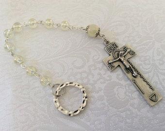 Irish Penal Crucifix with Glass beads