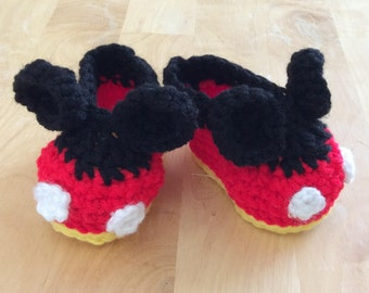 Mickey Mouse Slipper Booties