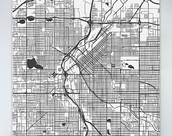 Large denver map Etsy