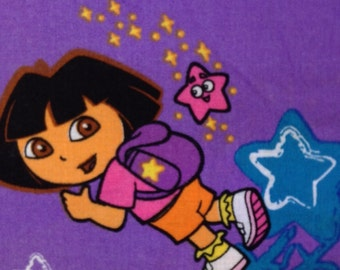 SALE - One Yard and 14 Inch Piece of Fabric Material - Dora Fabric, Dora The Explorer