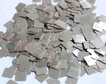 75 Silver Square Sequins/KBSS257