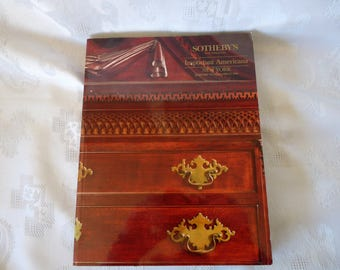 Sotheby's Auctions Softcover Catalog Book - Important Americana - New York - Sale 5968 held on January 24, 25, 26 and 27, 1990
