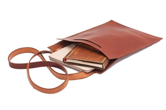 Leather bag, minimalist, plain and simple bag, Mac, iPad, books, notebooks, tablet, ect.
