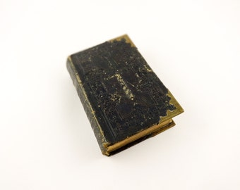 Prayer Book French Leather Bound Brass Corners 1861 Paroissien Catholic Devotional Missal