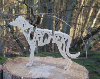 Lurcher, Lurcher gift,  Lurcher ornament,  gift for Lurcher lover,  Lurcher memorial, wooden decoration, dog breed gift