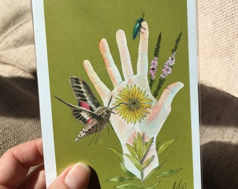 "Touching Nature: Botanical Nature 4x6"" Print"