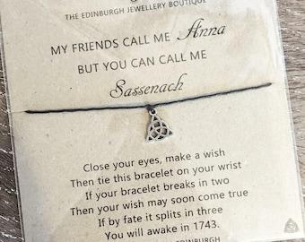 Personalised Inspired by Outlander Sassenach Wish Bracelet