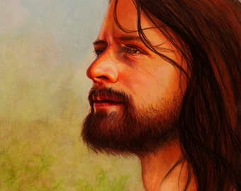 Portrait of the Savior: A fine Art Print of Jesus Christ