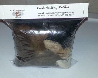 Bird Nesting Alpaca fiber Refill Bag