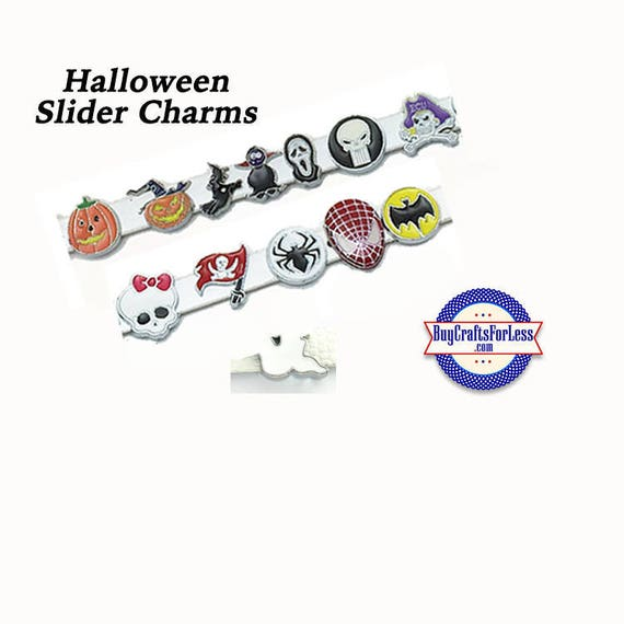 SALE -20% oFF-HALLOWEEN SLiDE 8mm Charms, for Bracelets, Collars, Key Rings, 13 Styles! +99cent Shipping & Discounts*