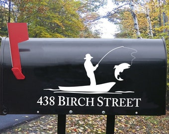 Mailbox Fisherman decal - trout decal - fishing decal for mailbox